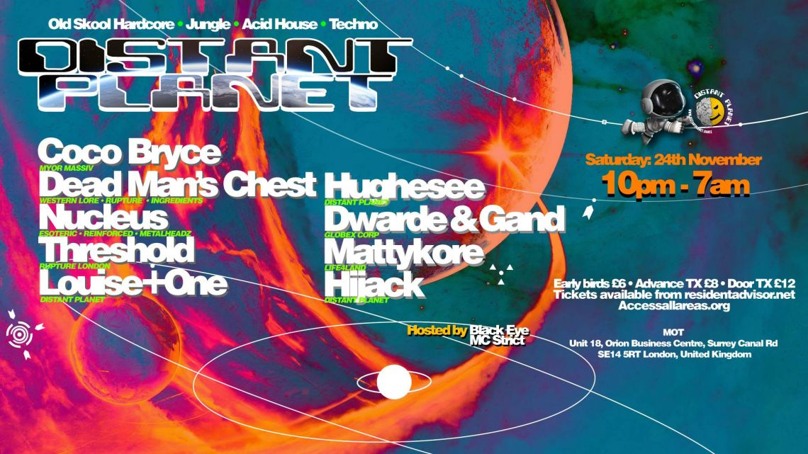 Distant Planet 24th November - Coco Bryce - Dead Mans Chest - Threshold - Nucleus [LDN]